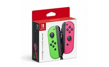 nintendo switch joycon green pink